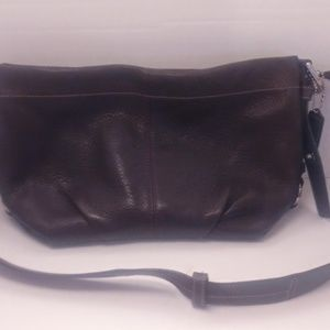 Coach BoHo Textured Brown Leather Cross-Body Bag